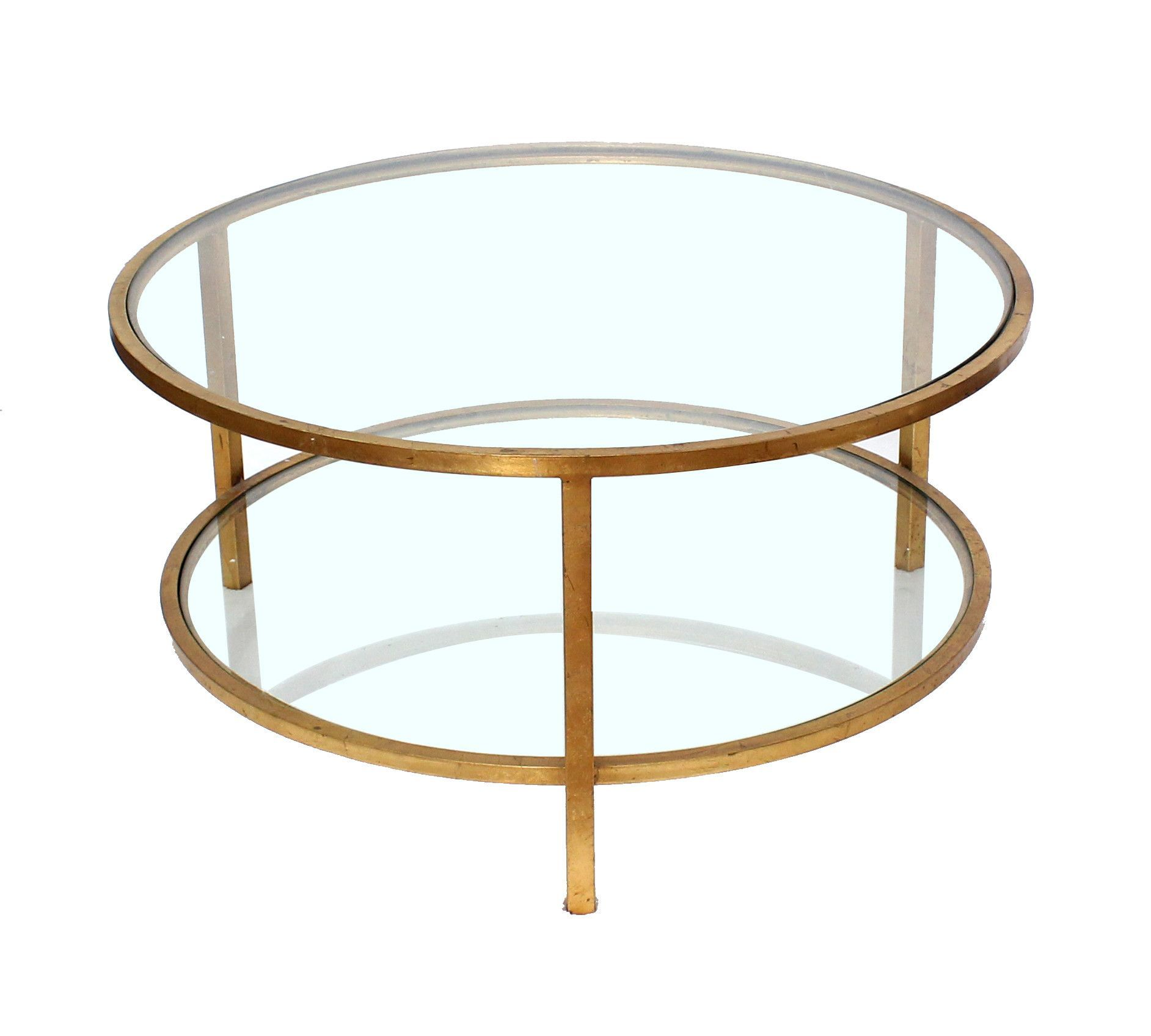 Screen Gems Double Layered Coffee Table Af 119 Round Metal Coffee Table Coffee Table Minimalist Coffee Table [ 1696 x 1884 Pixel ]