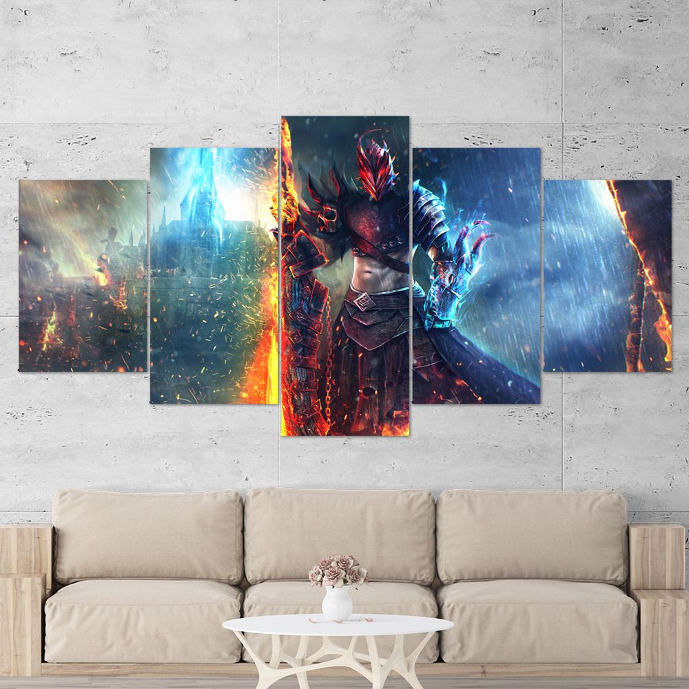 Guild Wars 01 5 Piece Canvas Wall Art Gaming Canvas Gaming Wall Art Canvas Wall Art Wall Canvas