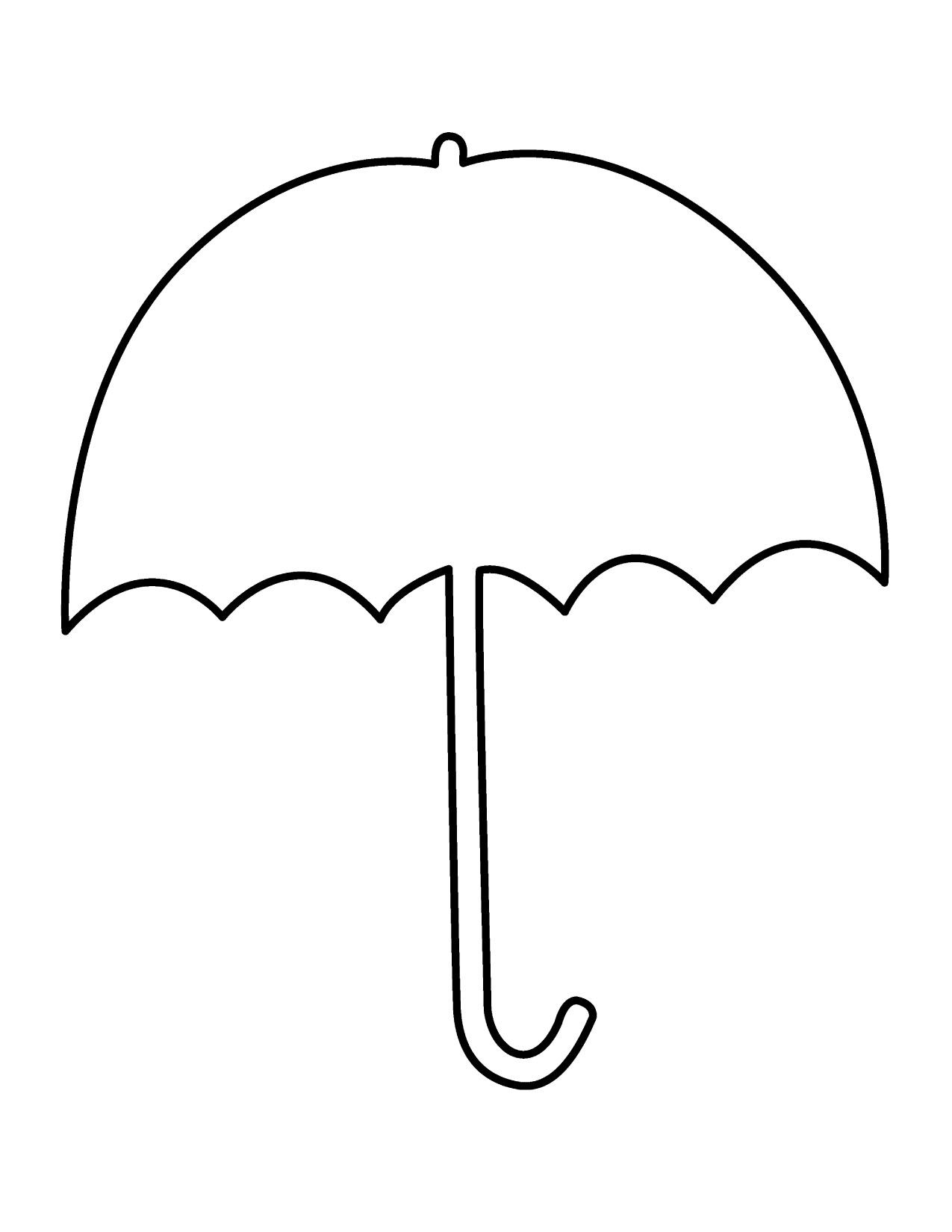 Umbrella clip art outline clipart panda free clipart for Printable umbrella template for preschool