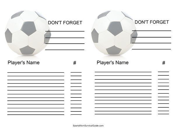 Soccer Bag Survival Essentials #survivalbags Survival bags - sample football score sheet