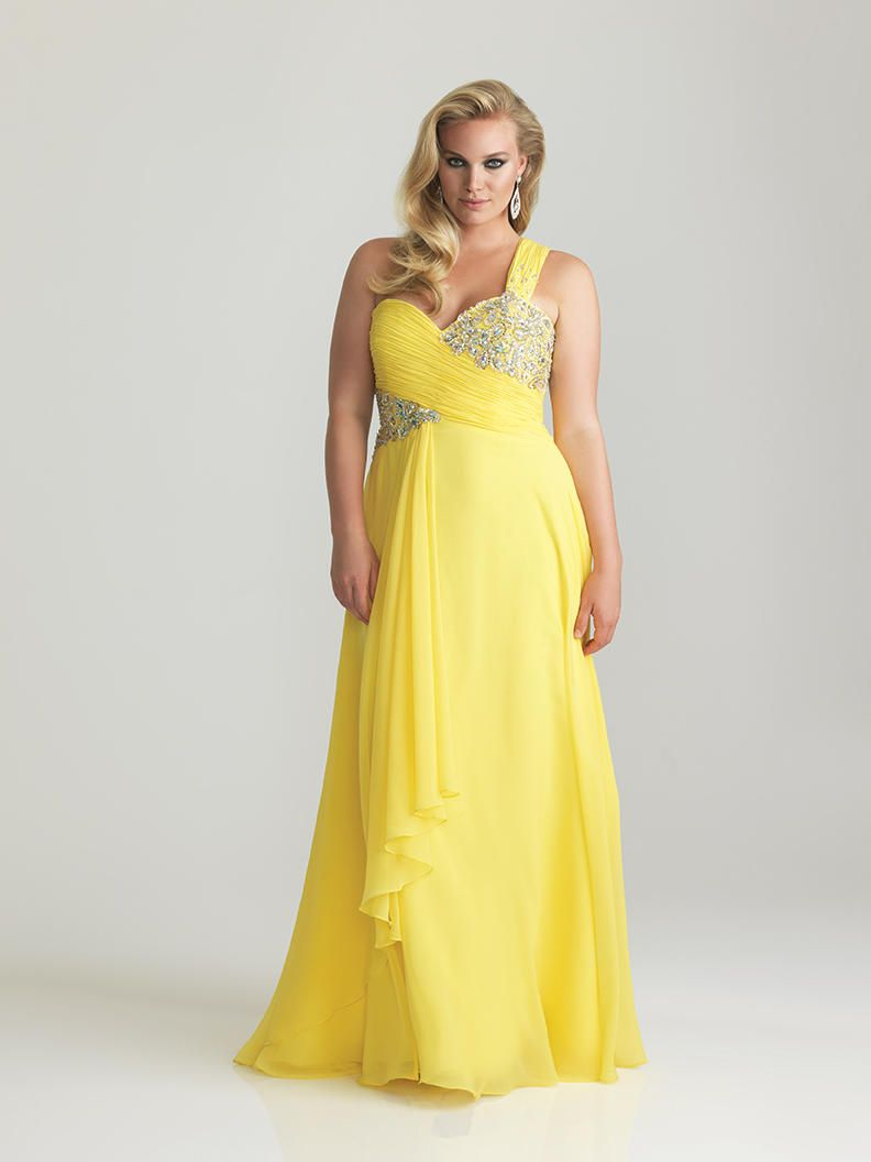 Image result for ruffle chiffon gown plus size one shoulder gowns