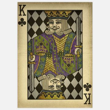 vintage King Of Clubs 17x24, now featured on Fab.