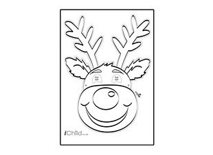 Print And Make Your Very Own Reindeer Mask This Christmas Using