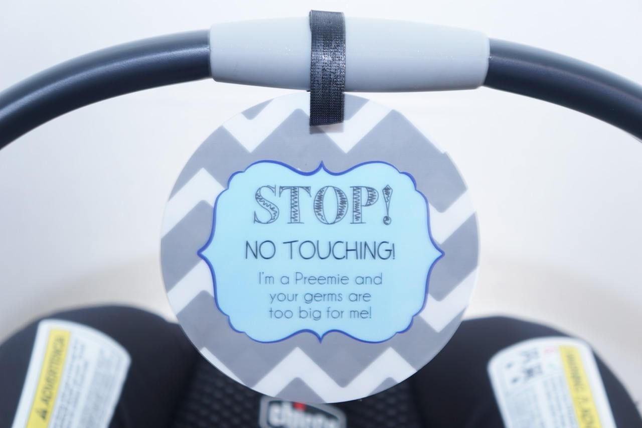 For your little preemie boy. Attach to a stroller or car seat to keep your preemie safe, healthy and germ free! www.tags4tots.com
