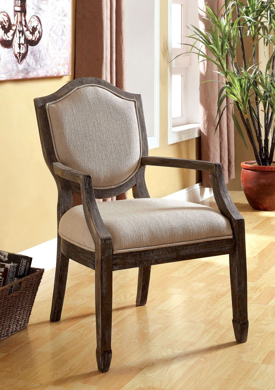 ACFOLD I Padded Seat Taupe Color Fabric Solid Wood Sale