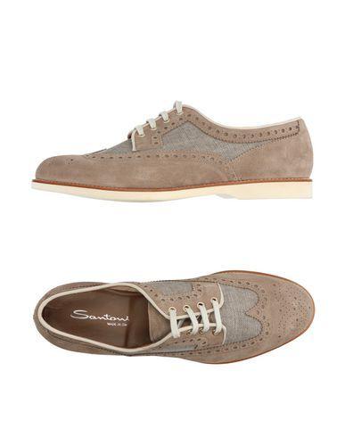 SANTONI Men's Lace-up shoe Grey 11.5 US