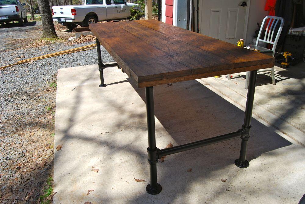 Industrial Desk Build Industrial Desk Industrial Interiors Decor