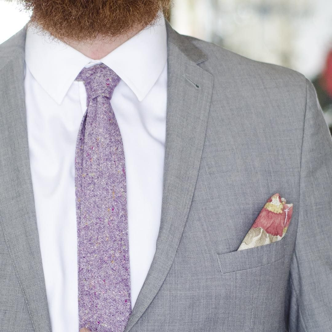 """""""The purple tweed is a long time love for us.  Glad the sun is out and shining again today.  Link in bio for more colors.  #tweed #mensfashion #dapper…"""""""