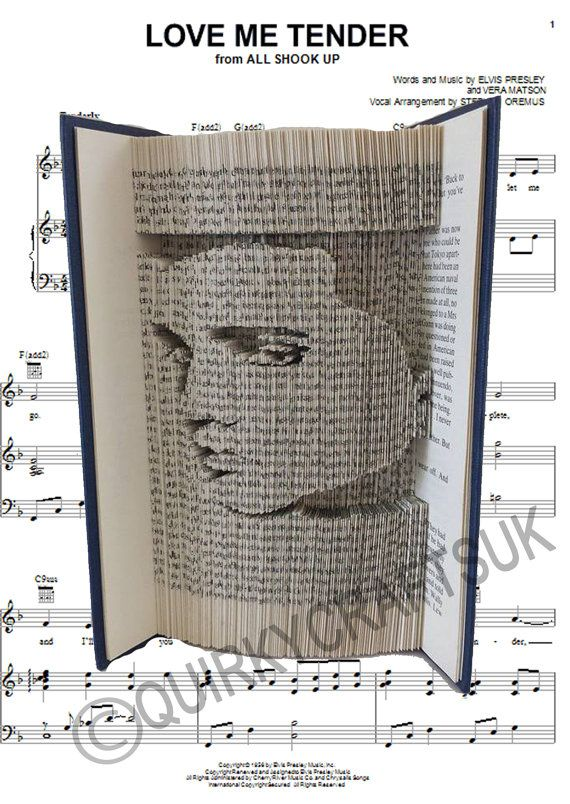 The King Legend Elvis Presley Cut And Fold Method Book Folding Fascinating Book Folding Patterns Free Download