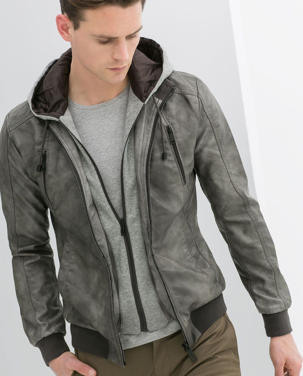 ZARA SALE HOODED FAUX LEATHER JACKET 299 passion for
