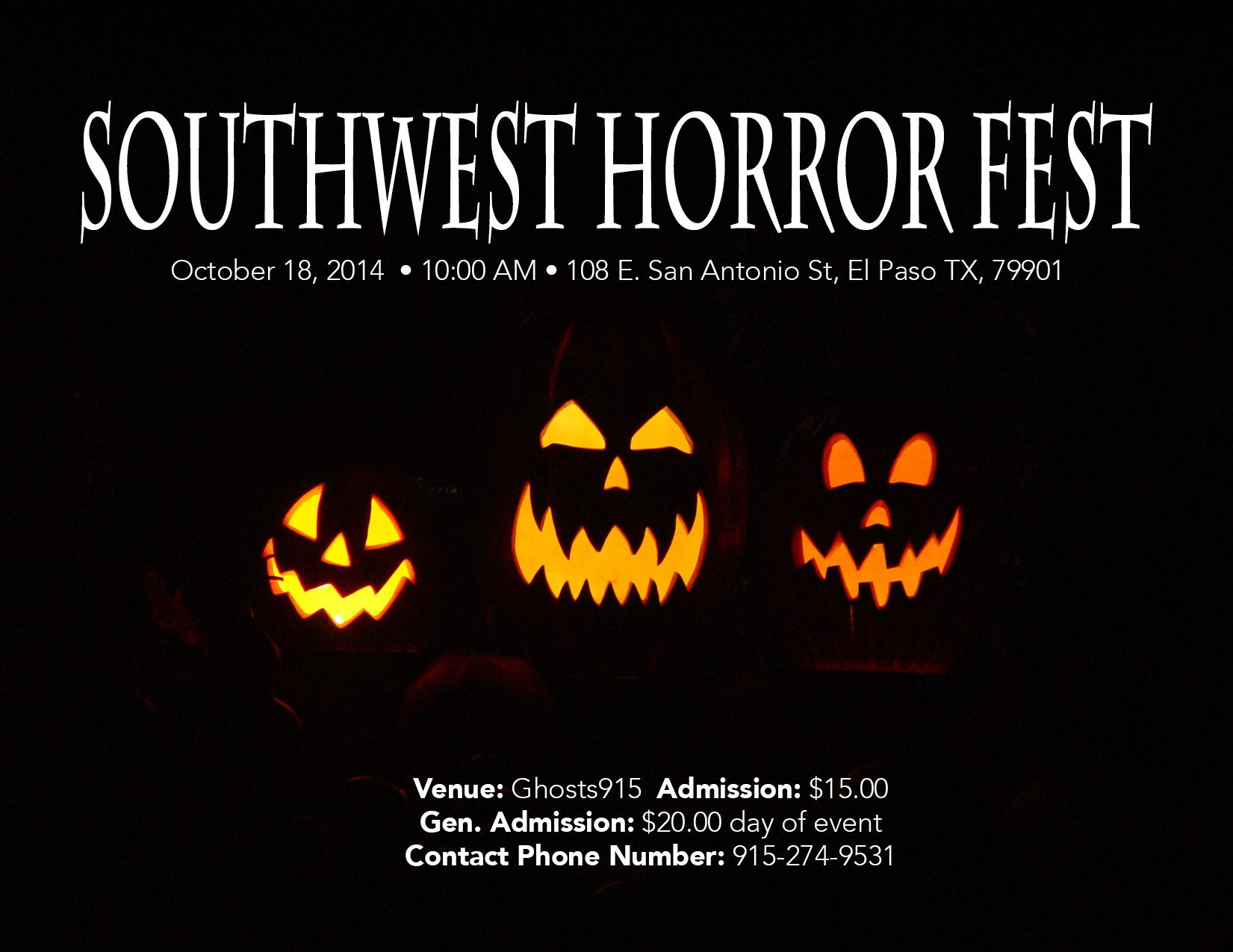 southwesthorrorfest | holidays & events | pinterest | events and