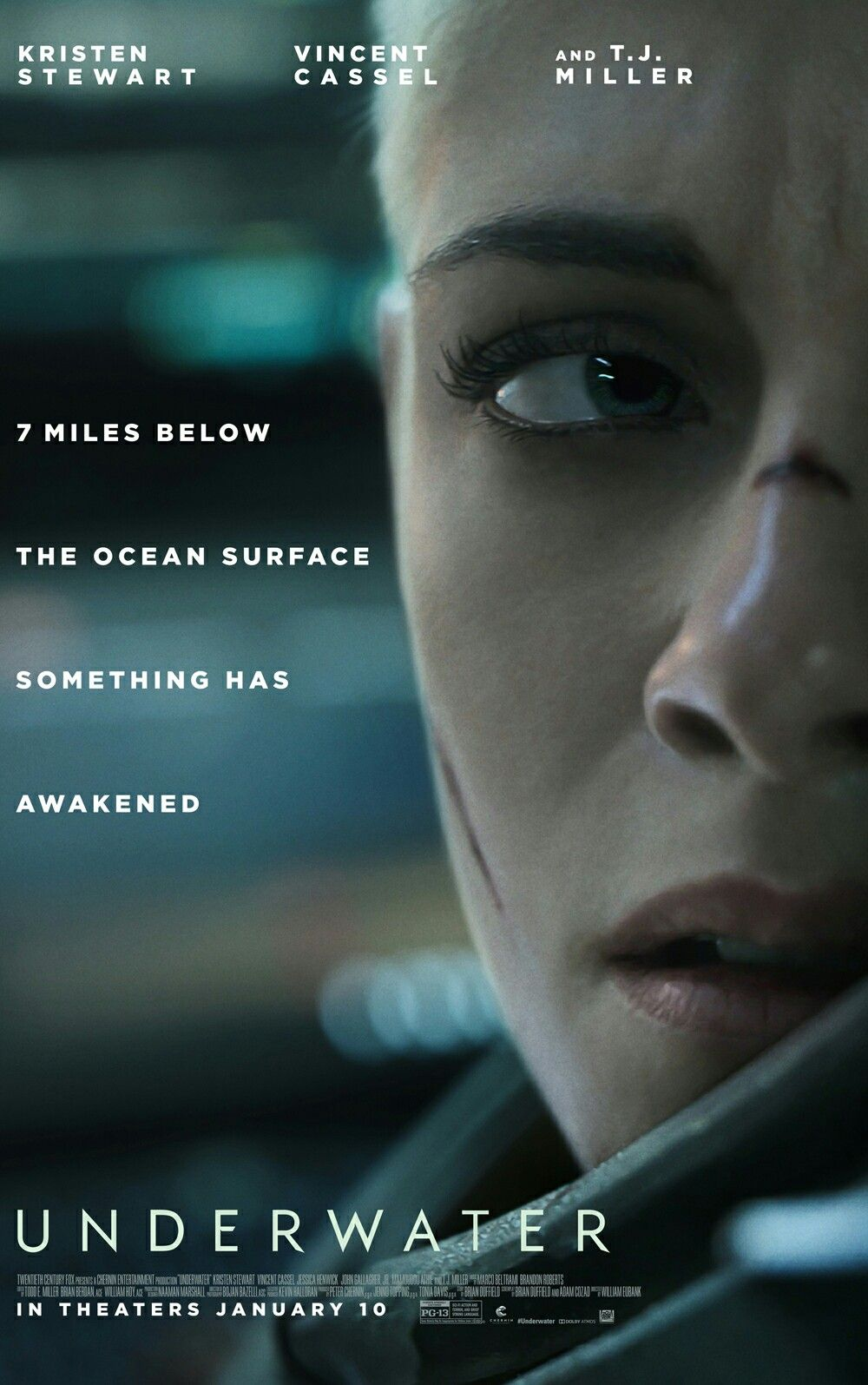 The Poster For The New Sci Fi Thriller Underwater Starring