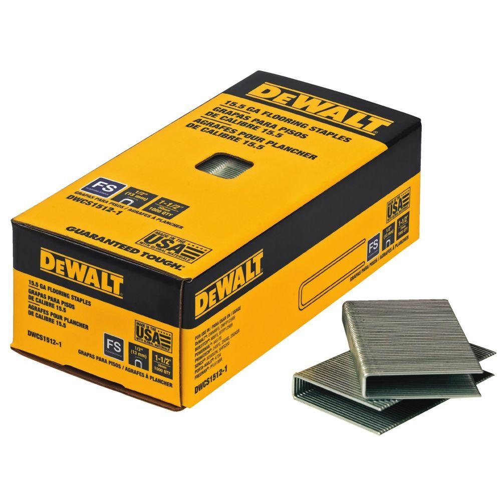 1 1 2 Inch X 15 5 Gauge Glue Collated Flooring Staples 1 000 Per Box Hardwood Floors Flooring Diy Flooring