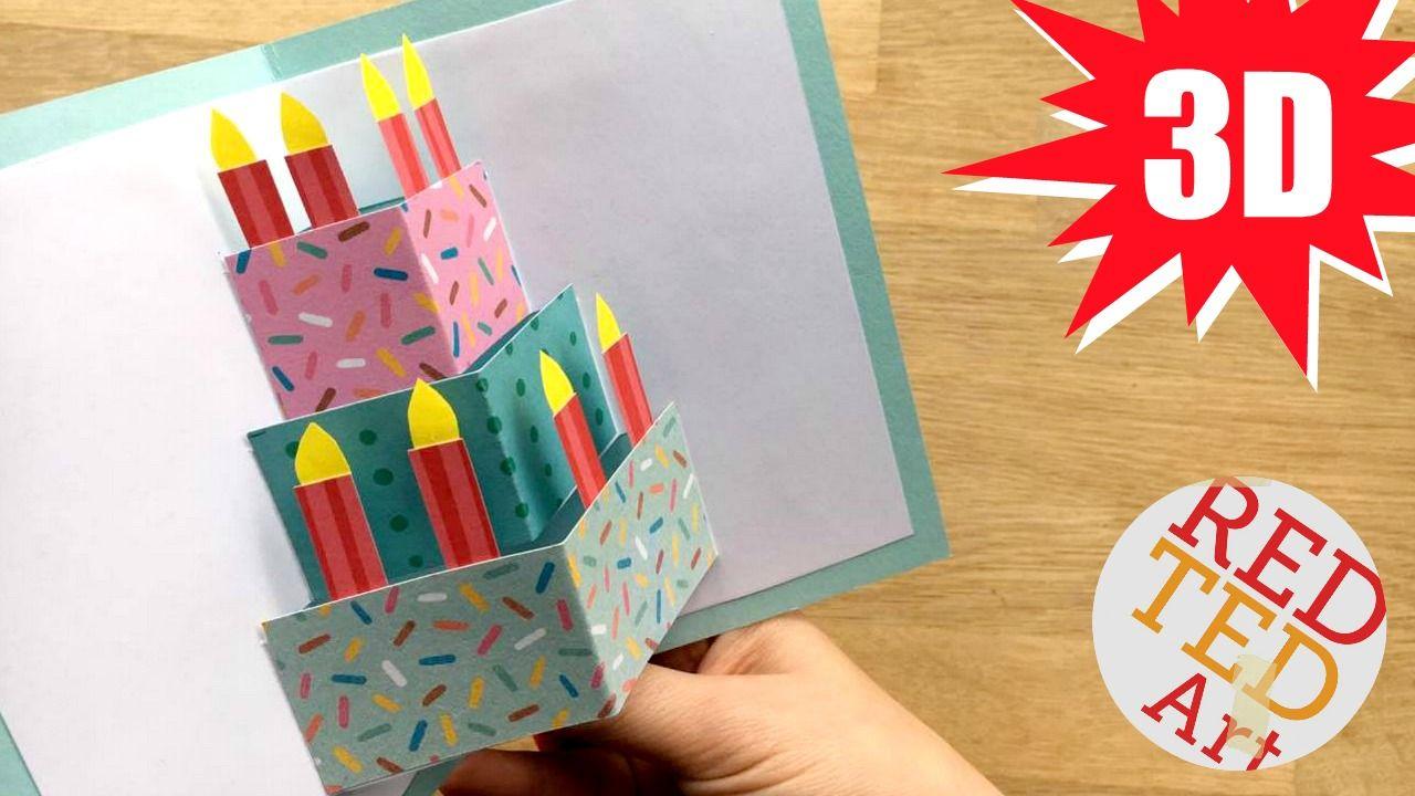 Diy Cake Pop Up Card For Birthday Easy 3d Cards Diy Maison