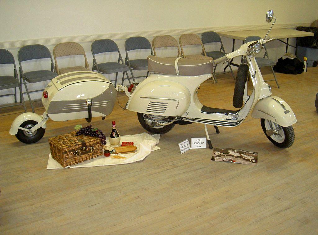 1964 Vespa Gl W Pav 40 Trailer Vespa Pinterest Motos Triciclo