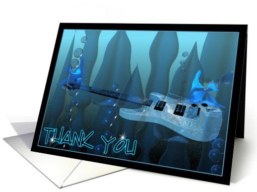 Fish play underwater guitar to say thank you card 693238 buy fish play underwater guitar to say thank you card 693238 buy customized greeting cards m4hsunfo