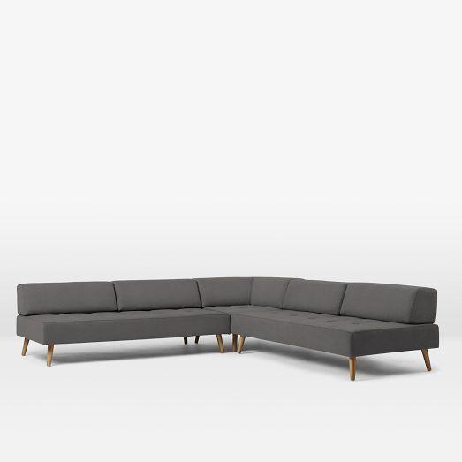 Best Retro Tillary® 8 Piece Sectional Grey Retro Sofa 640 x 480