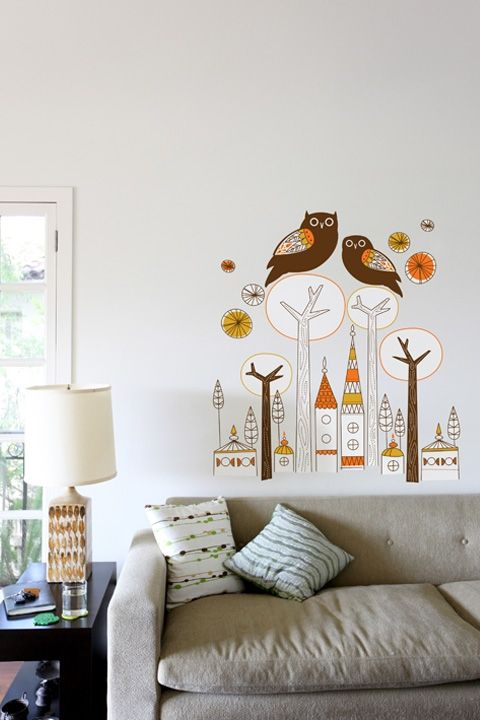 Night Owls | Night owl, Owl and Wall decals