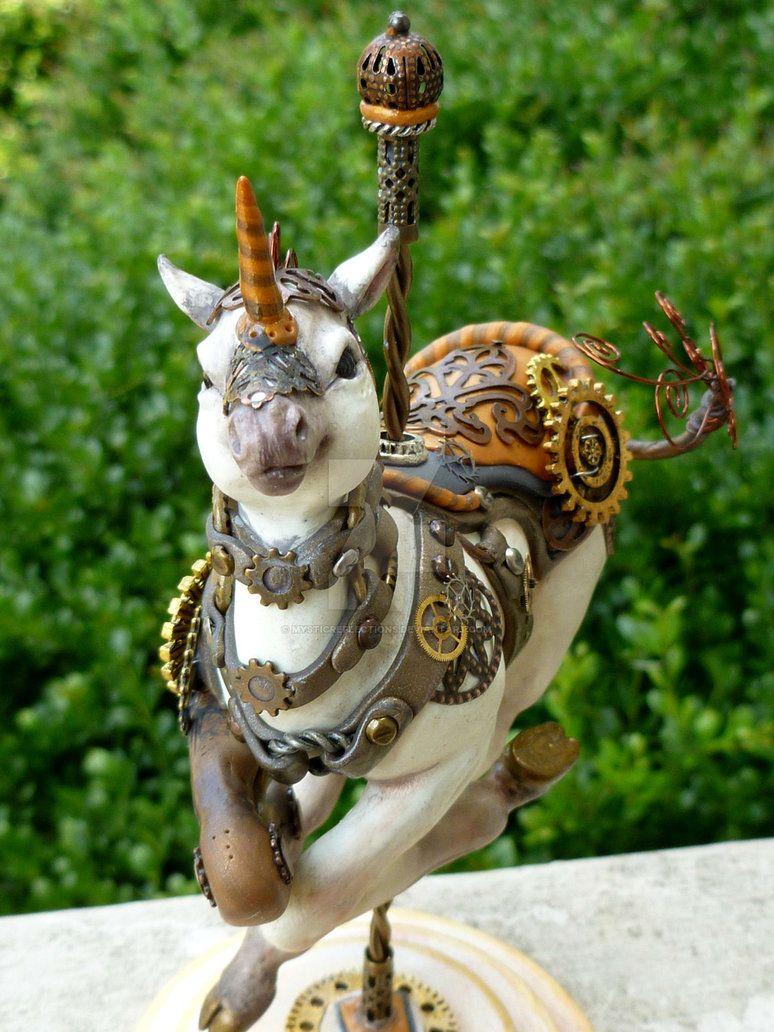 Steampunk Carousel Unicorn by MysticReflections