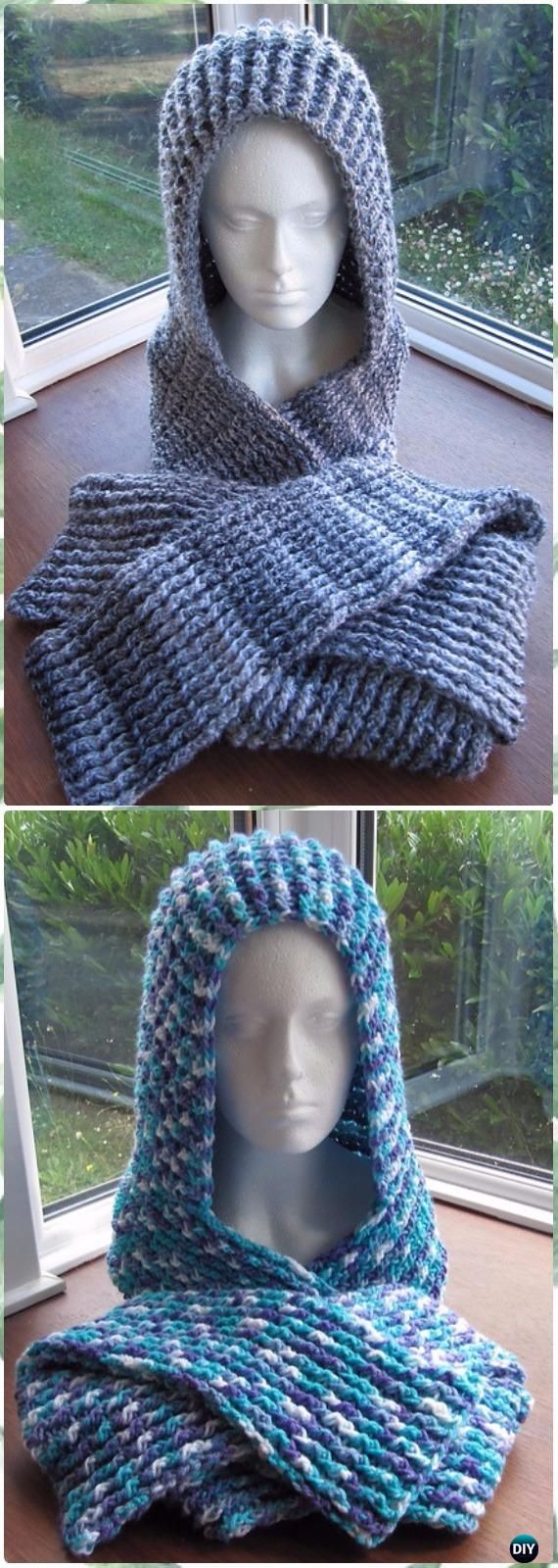 Crochet Hoodie Scarf Scoodie Free Patterns