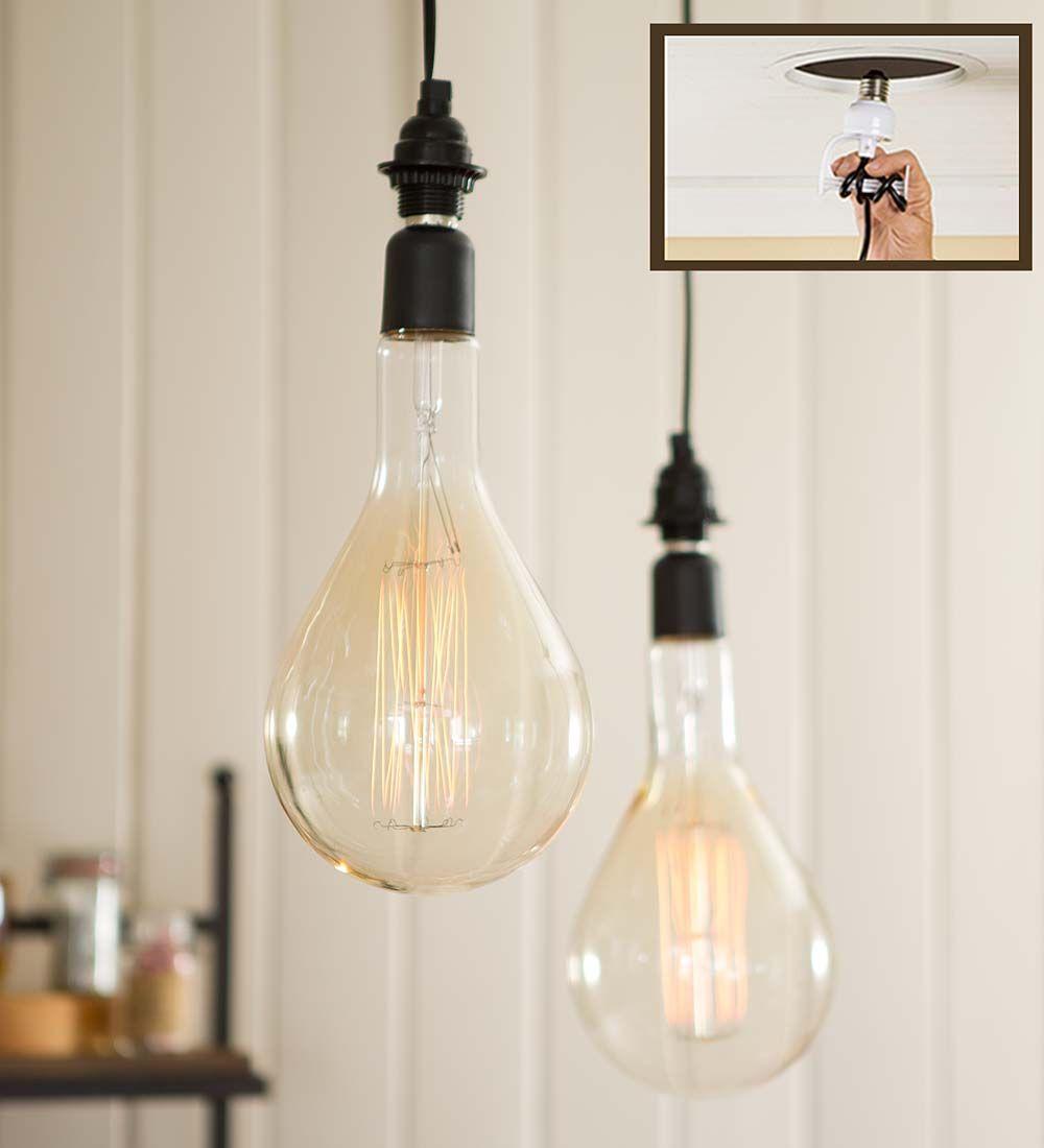 Oversized Vintage Pendant Light Edison Bulb 12 L Lamps