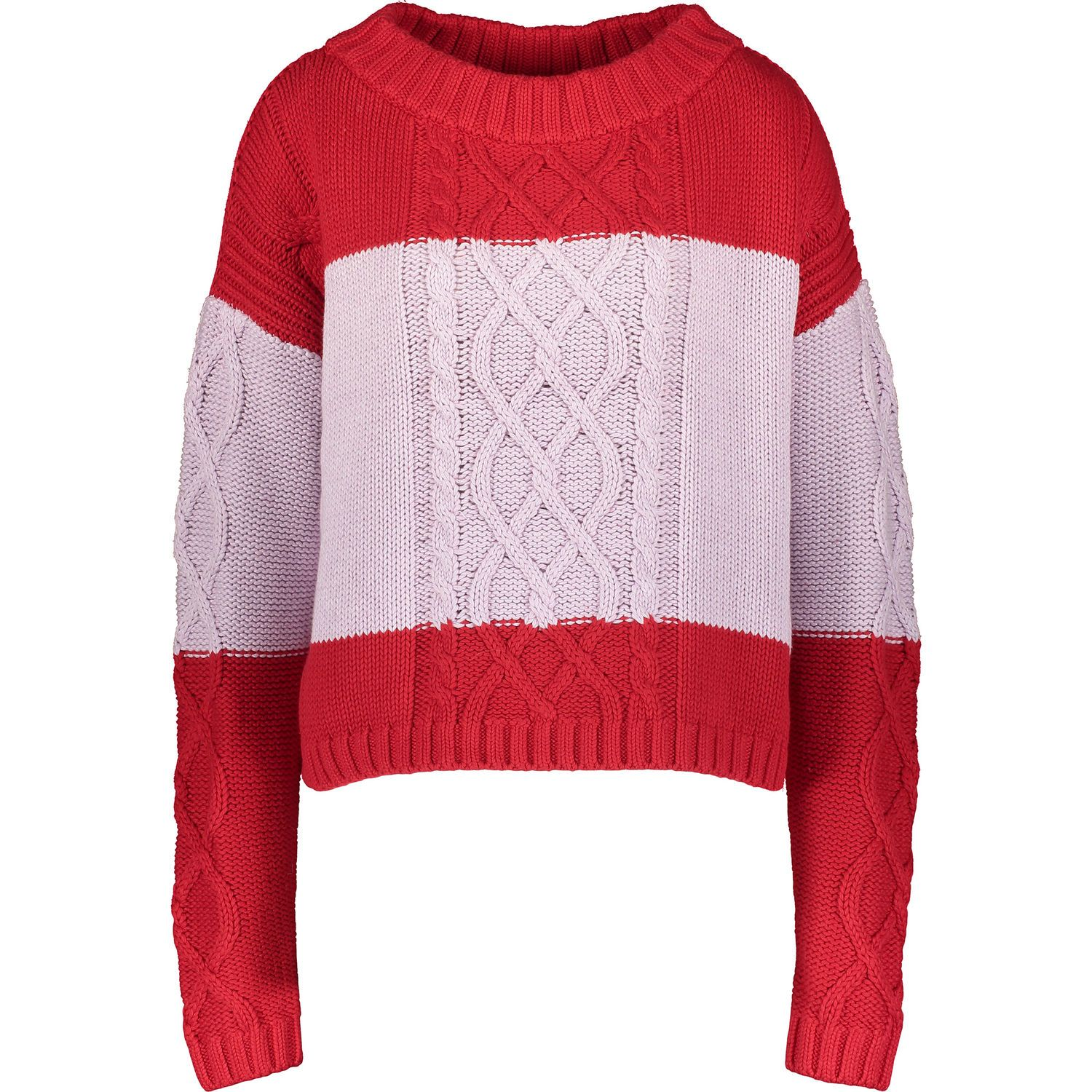 6fed810545 Red   Pink Cable Knit Jumper - Women s Contemporary Designers - Edits ...