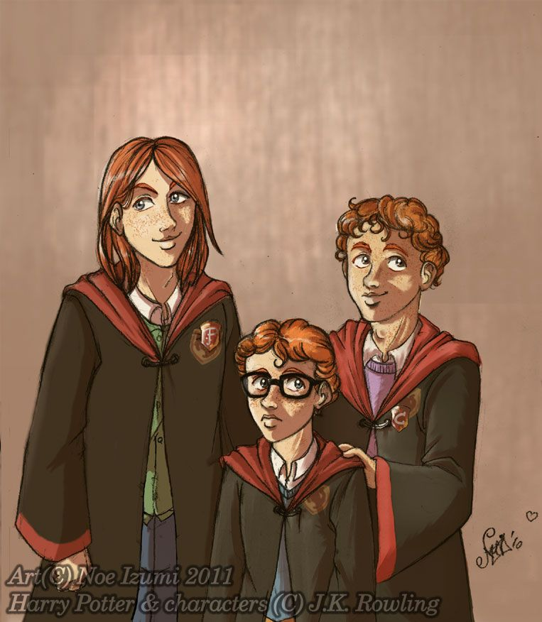 HP- Three Weasleys by ~Noe-Izumi on deviantART