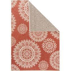Photo of alfombra reversible benuta terrazo beige / rojo 200×285 cm – alfombra moderna para sala de estar benuta