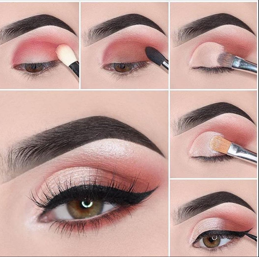 Natural pink makeup look ideas, easy eye makeup tutorial