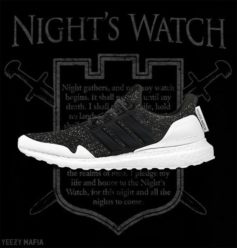 933f3af07 ... Ultra Boost Nights Watch release that comes in a Black and White  colorway releasing in. adidas Game Of Thrones - Release Info