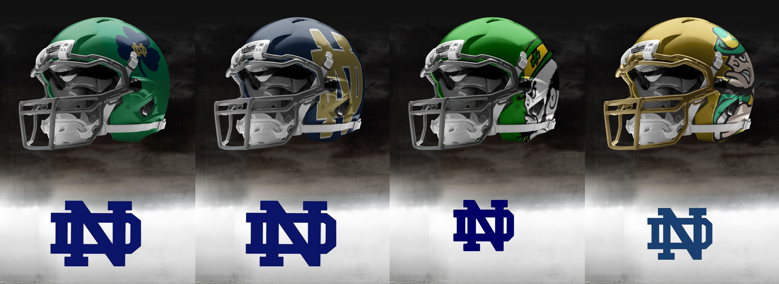 helmets 2 705—986 pixels Fightin Irish Fans ly