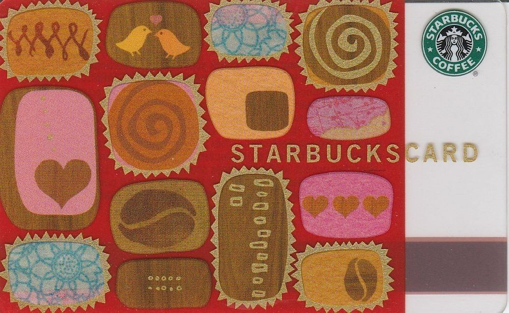 2003 starbucks gift card mint condition valentine no