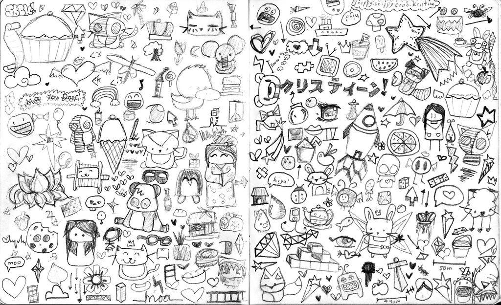 Random Drawings 3 Black And White Wallpaper Black And White Cartoon Black Wallpaper