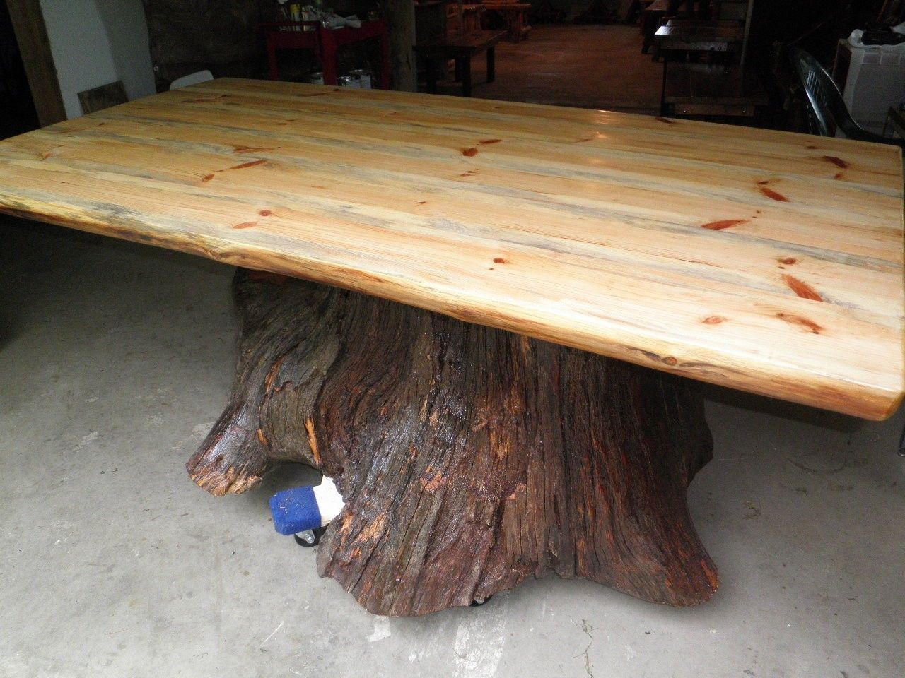 Real Oak Tree Trunk Kitchen Dining Table One Of Our Current