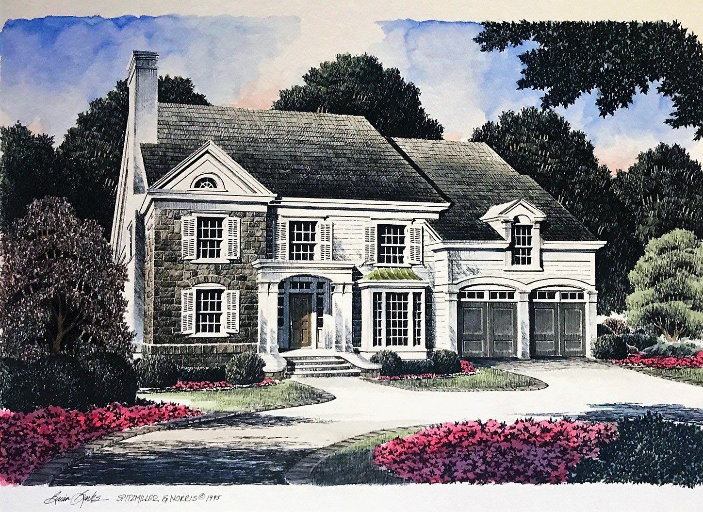 Parkside Place Colonial House Plans Colonial House House Plans