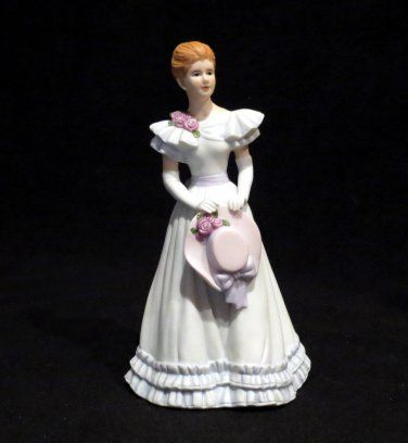 Victorian home interior lady figurines homco home interiors gift southern belle figurine elizabeth 14061