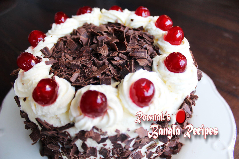 Black Forest Cake Recipes In Marathi: Bangladeshi Black Forest Cake