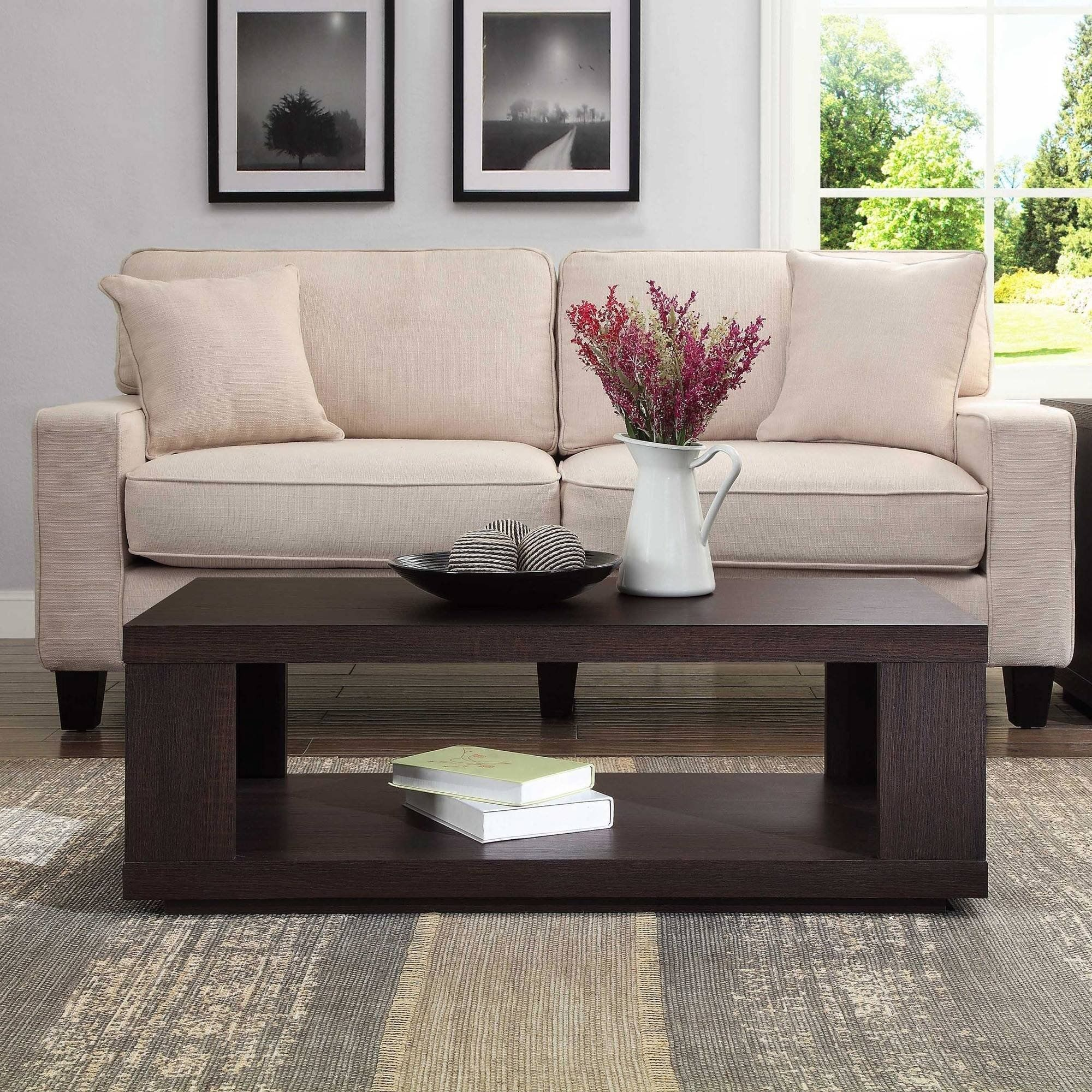 contemporary design steele coffee table