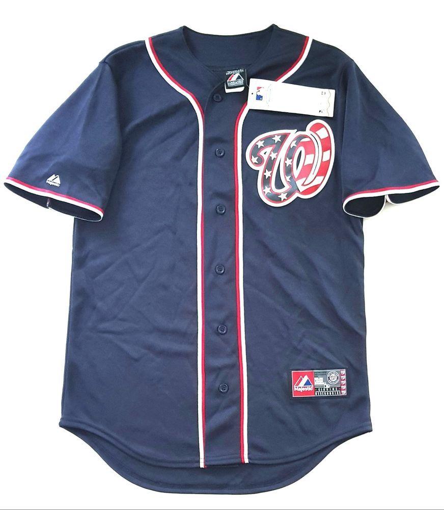 timeless design a77d5 b0c07 MAJESTIC WASHINGTON NATIONALS Official MLB Baseball Jersey Shirt Authentic  Men S  Majestic Adidas Sportswear,