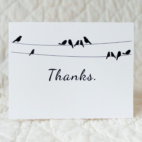 Thank You card  4x5 folded card with envelope  by inoroutmedia, $4.00