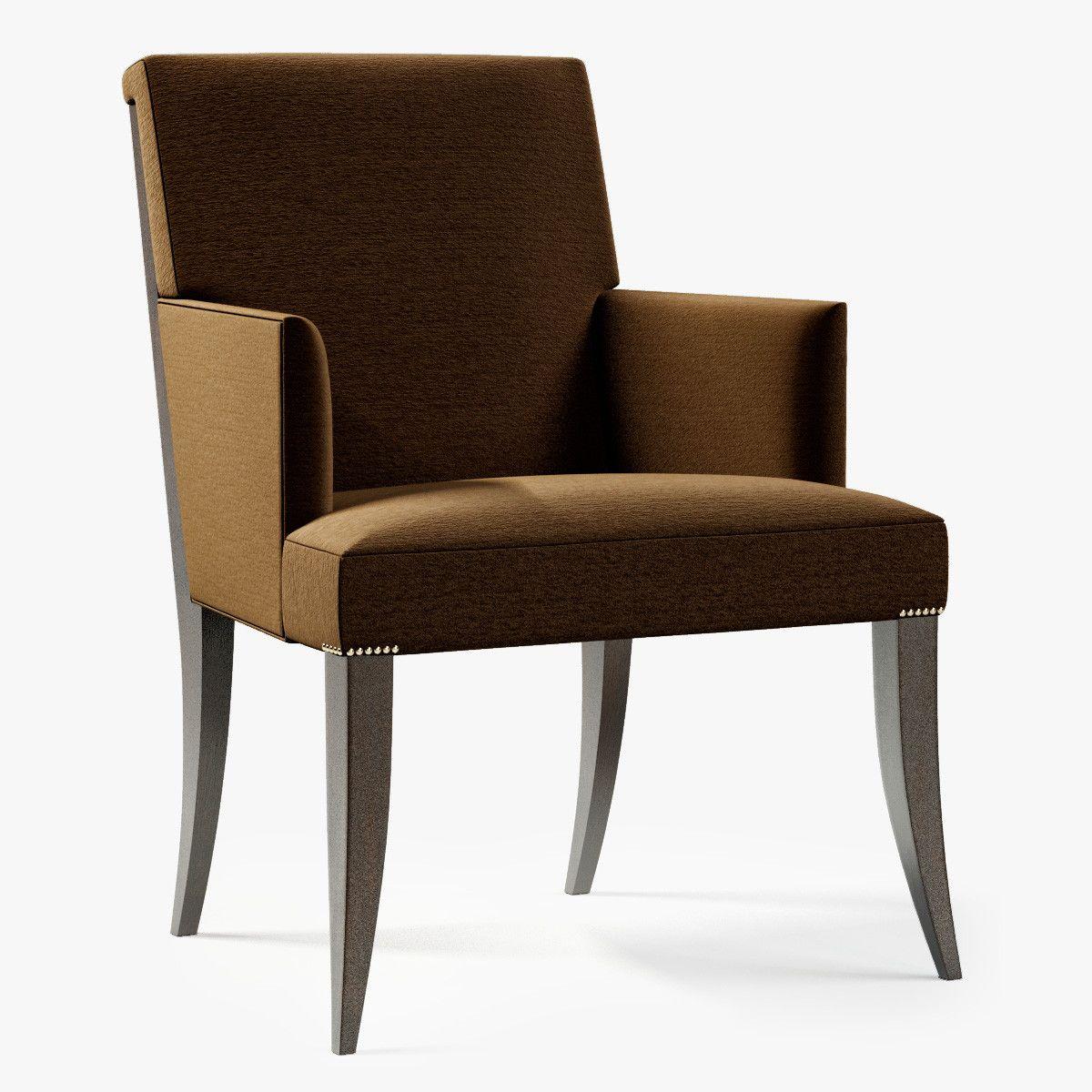 baker atelier dining arm chair 3d model 3d model