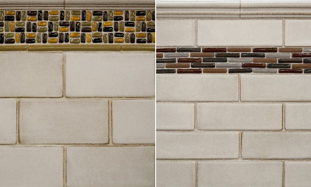 Syzygy Handmade Ceramic Subway Tile With Mosaic Accents