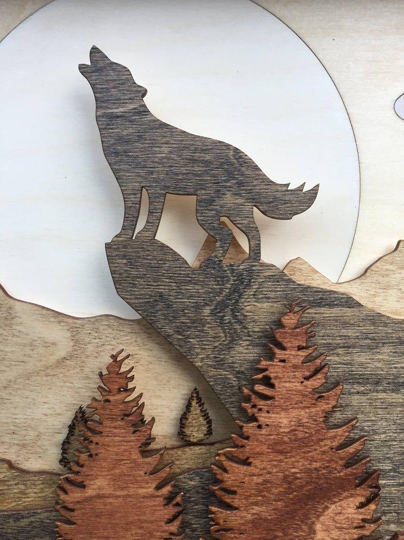 Metal Laser Cut Picture Frame-Coyote design