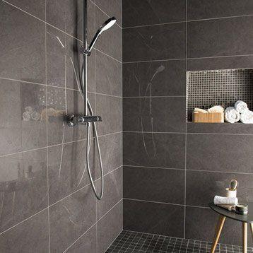 Faïence mur noir, Murano l305 x L56 cm salle de bain Pinterest