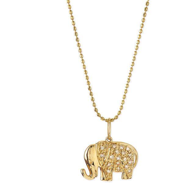 Sydney evan 14k gold diamond elephant pendant necklace 840 sydney evan 14k gold diamond elephant pendant necklace 840 liked on polyvore featuring aloadofball Choice Image