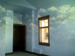 How To Paint A Realistic Cloud Mural Wall And Ceiling Instructions