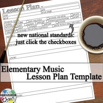 Free Lesson Plan Template For Pk-8 General Music Based On The New