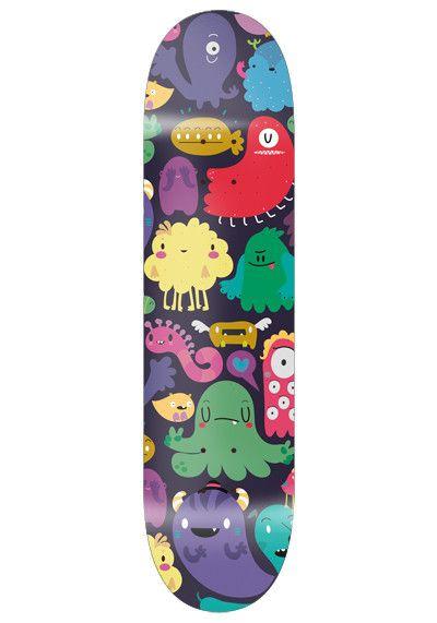 monstruos skate board