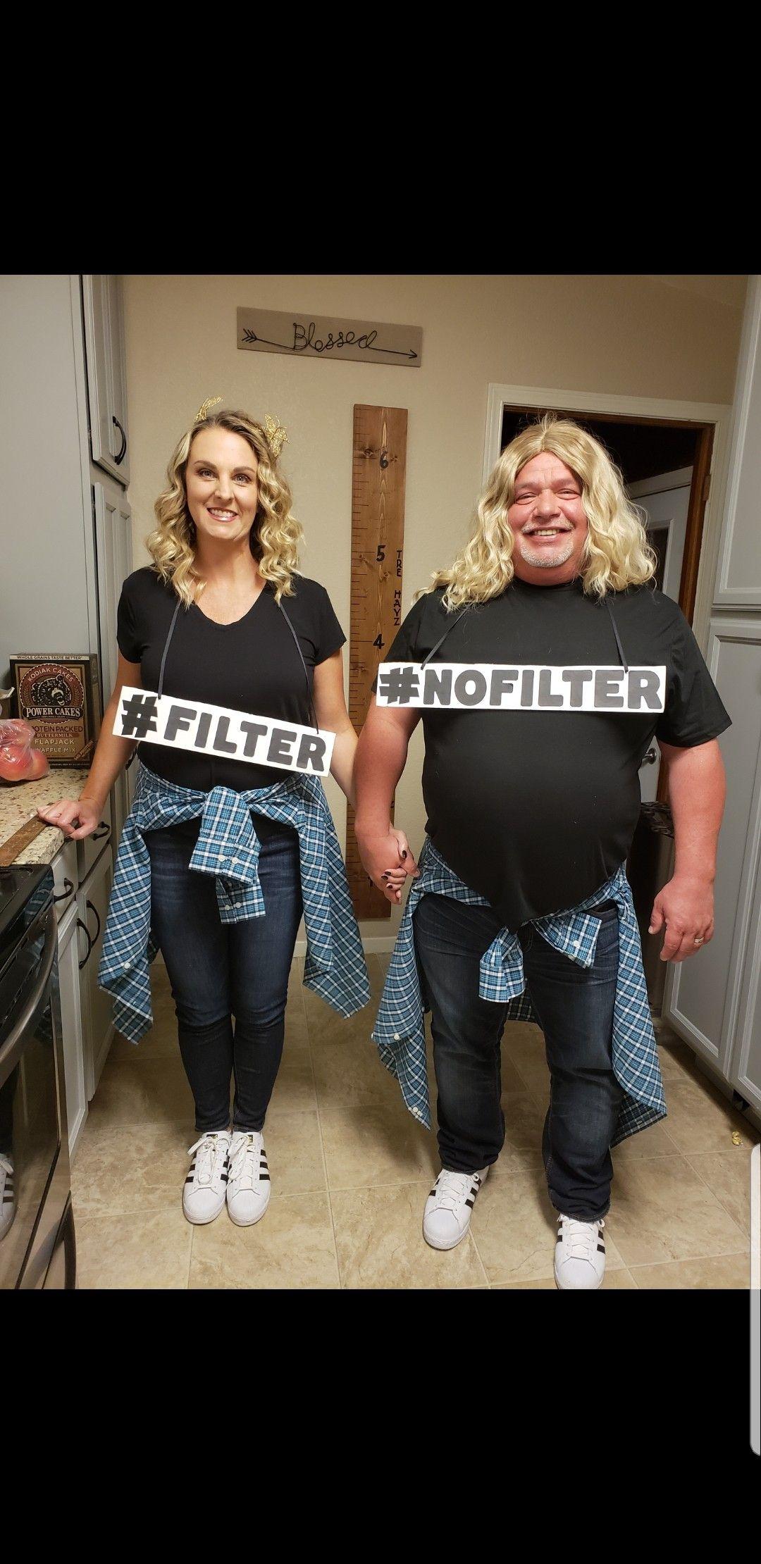 #filter #nofilter couples Halloween costume #coupleshalloweencostumeideas