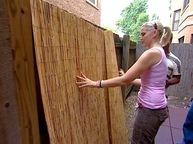 Garden Ideas To Hide A Wall inexpensive way to border an outdoor room, or hide fence with